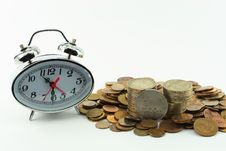 Free Hours And Coins Stock Photography - 5759292