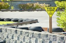 Go Cart Track Yield Sign