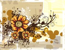 Free Floral Grunge Background Royalty Free Stock Image - 5759796