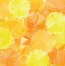 Free Yellow Orange Polygons Royalty Free Stock Photos - 57513278