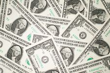 Free A Lot Of Banknotes One US Dollars Stock Photos - 57527853