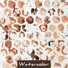 Free Brown Abstract Watercolor Background Royalty Free Stock Photos - 57553248