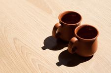 Free Two Clay Steins Stock Image - 57592131