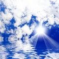 Free Sunny Sky Background Royalty Free Stock Photography - 5762647