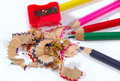 Free Pencils And Sharpener Royalty Free Stock Images - 5766829