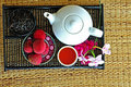 Free Tea Set With Chinese Tea And Litchees Royalty Free Stock Image - 5767226