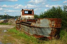 Free Old Rusting Patrol Boat Stock Image - 5760091