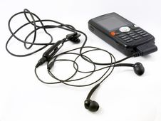 Mobile Phone With Mp3 Player Stock Photo