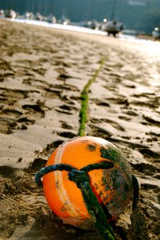Free Buoy In The Sand Stock Photos - 5760223