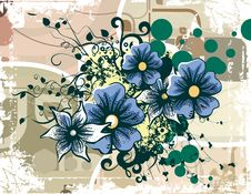 Free Floral Grunge Background Stock Photography - 5760292