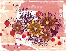 Free Floral Grunge Background Royalty Free Stock Images - 5760379