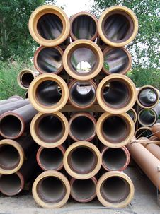 Ceramic Pipes Royalty Free Stock Photos