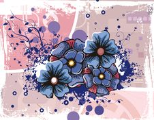 Free Floral Grunge Background Royalty Free Stock Photos - 5760438