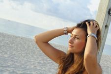 Free Woman At The Beach Stock Photos - 5760463