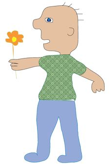 Free Boy With Flower Royalty Free Stock Photography - 5760537