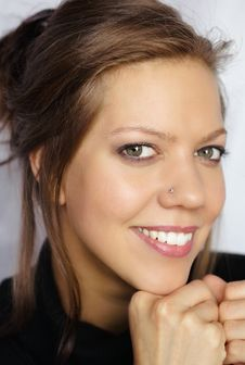 Free Young Smiling Woman Stock Image - 5760681