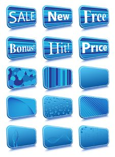 Free Stickers Royalty Free Stock Image - 5761176