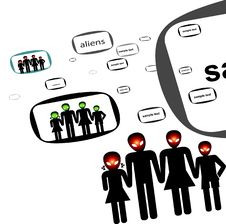 Free Aliens In Vector Stock Images - 5761864