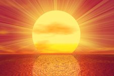 Free Golden Sunset Royalty Free Stock Image - 5762866