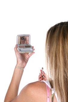 Free Teenage Applying Makeup Royalty Free Stock Photography - 5763197