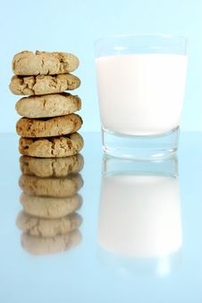 Free Milk And Cookies Royalty Free Stock Image - 5763876