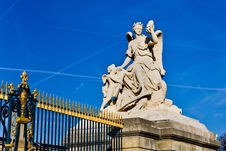 Free Statue At A Gate In Versailles Royalty Free Stock Images - 5764239