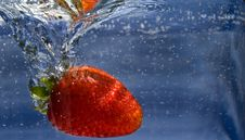Free Splashing Strawberry Royalty Free Stock Photo - 5764425