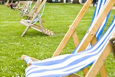 Free Vacant Deck Chairs Stock Photo - 5765280