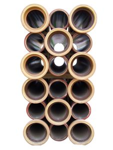 Ceramic Pipes Isolade Stock Photos
