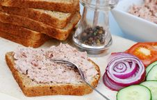 Free Preparing A Tuna Salad Sandwich Stock Images - 5765984