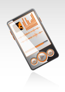 Free Vector Stylish Player With Orange Interface Stock Photography - 5766102
