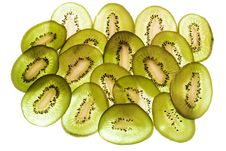 Free Sliced Kiwi On White Stock Images - 5766164