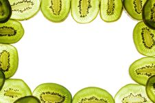 Free Sliced Kiwi On White, Frame Royalty Free Stock Photos - 5766178