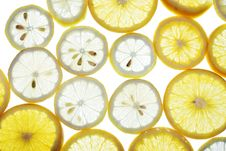 Free Sliced Orange And Lemon Royalty Free Stock Images - 5766219
