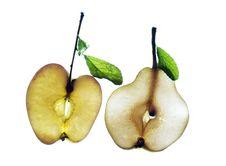 Free Sliced Banana On White Royalty Free Stock Photo - 5766255