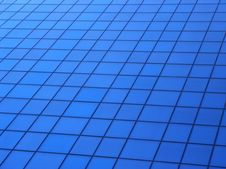 Square Geometric Structure Formed By Windows Of Mo Royalty Free Stock Photography