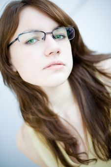Free Portrait Of A Brown-hair Young Woman Royalty Free Stock Photo - 5766345