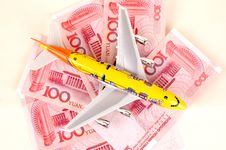Free Toy Plane And Chinese Money Royalty Free Stock Photos - 5766718