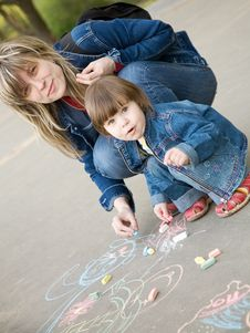 Free Drawing On A Pavement Stock Photos - 5766913