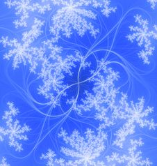 Free Snowflakes On The Wind. Stock Images - 5767864