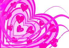 Free Background Heart Set Valentine Stock Photography - 5768242