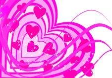 Background Heart Set Valentine Stock Photography
