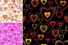 Background Heart Set Valentine Royalty Free Stock Image