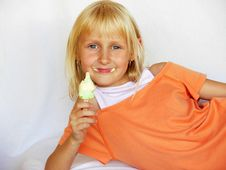 Free Adorable Girl With Ice Cream Stock Image - 5769601