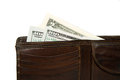 Free Old Wallet With Banknotes Of US Dollars Inside Royalty Free Stock Images - 57602899