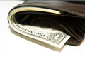 Free Old Wallet With Banknotes Of US Dollars Inside Stock Photos - 57602913
