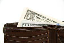 Free Old Wallet With Banknotes Of US Dollars Inside Stock Photo - 57602920