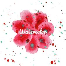 Free Pink Flower Splash Watercolor Hand Drawn Background Stock Photos - 57627783