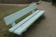 White Painted Wooden Bench Royalty Free Stock Image