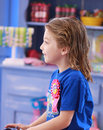 Free Little Girl Waiting For New Haircut Royalty Free Stock Photos - 5775188
